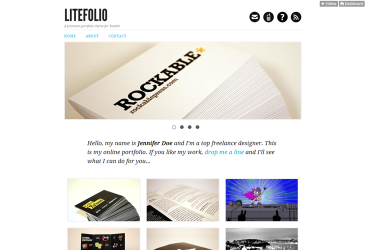 Litefolio - portfolio theme for Tumblr