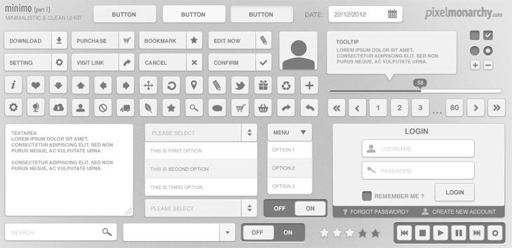 Minimo - Clean - Minimalistic UI Kit