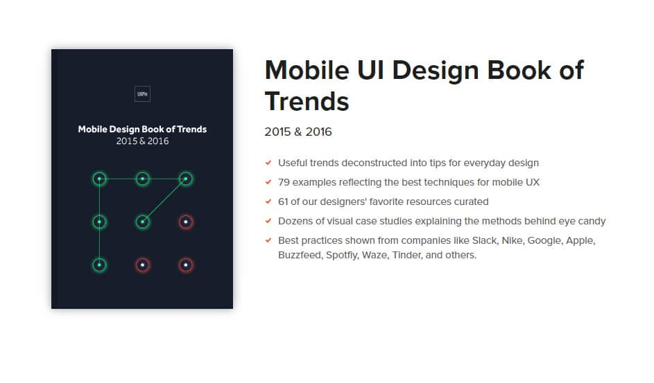 Mobile UI Design Book of Trends