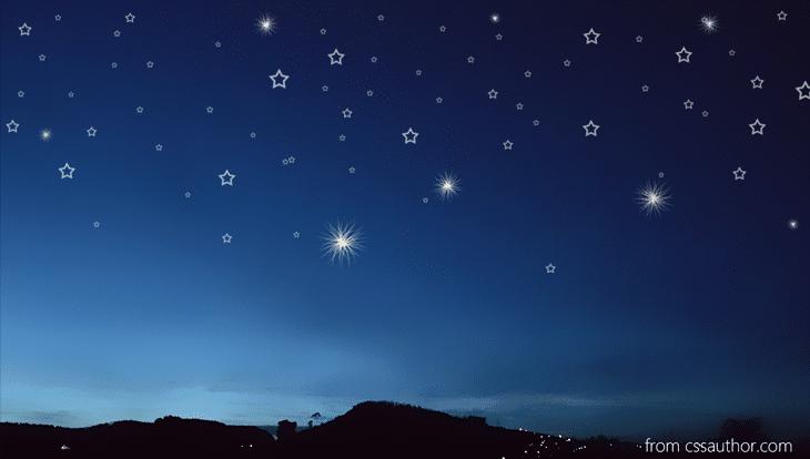 Night Stars Background PSD - cssauthor.com