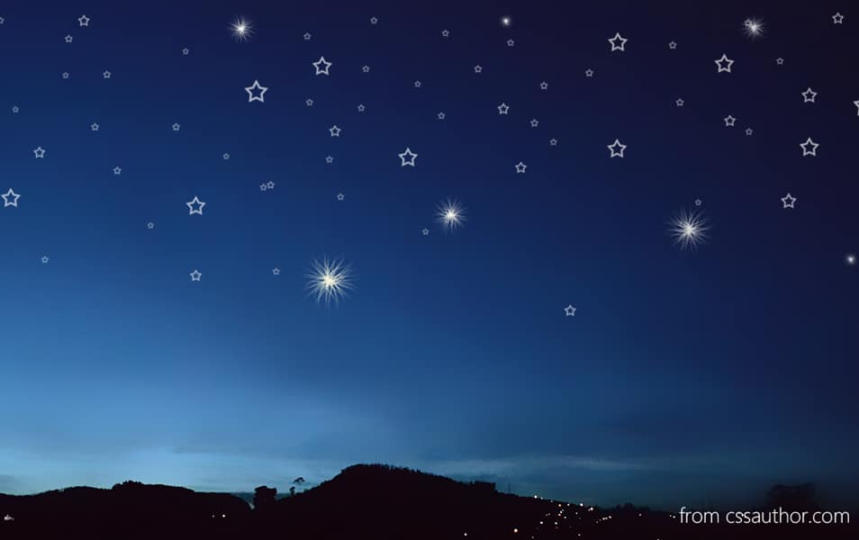 Night Stars Background PSD