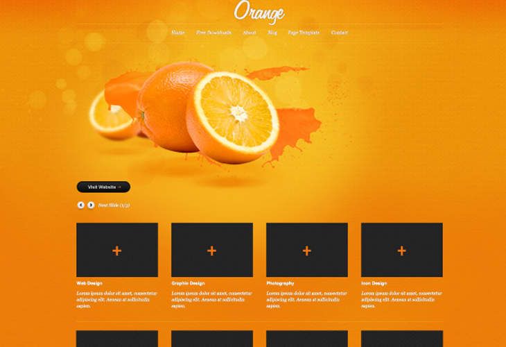 Orange-–-PSD-website-template