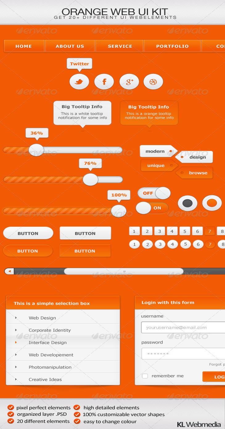 Orange Web UI Kit