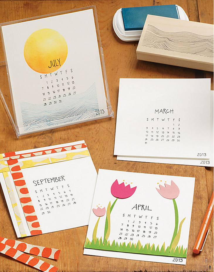 Paper Source 2013 DIY Calendar