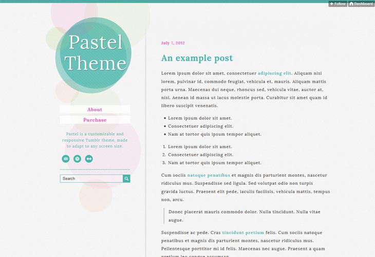 Pastel Tumblr Theme