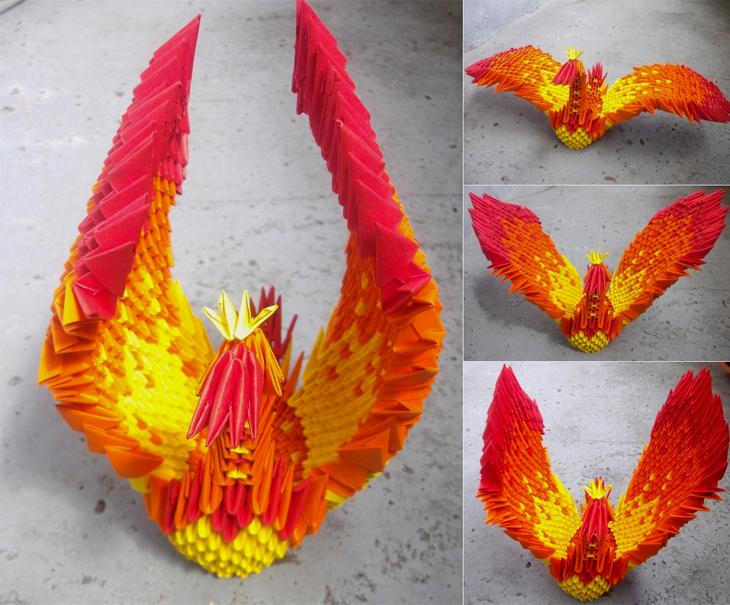 Phoenix - 3D Origami