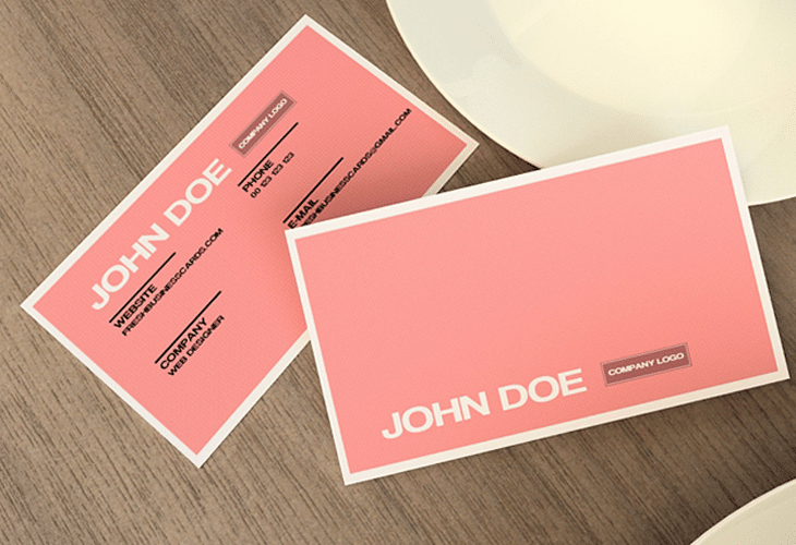 Pink Business Card Template | 30 Beautiful Business Card Design Templates