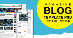 Premium Magazine Blog Template PSD for Free Download – Freebie No: 43