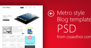 Premium Metro Style Blog Template PSD for Free Download – Freebie No: 39