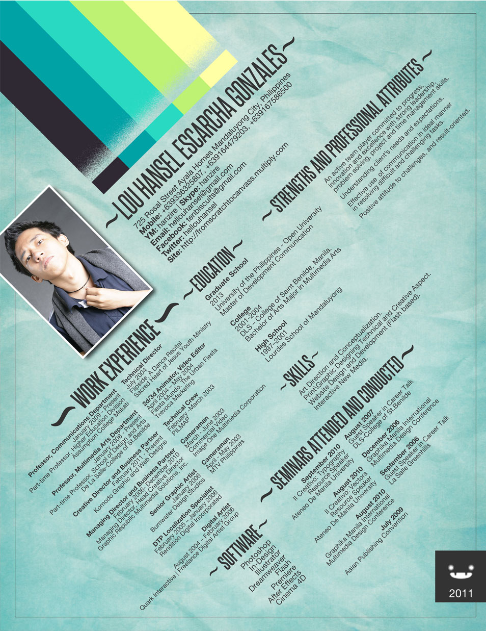 Resume 2011  Resume Design Inspiration