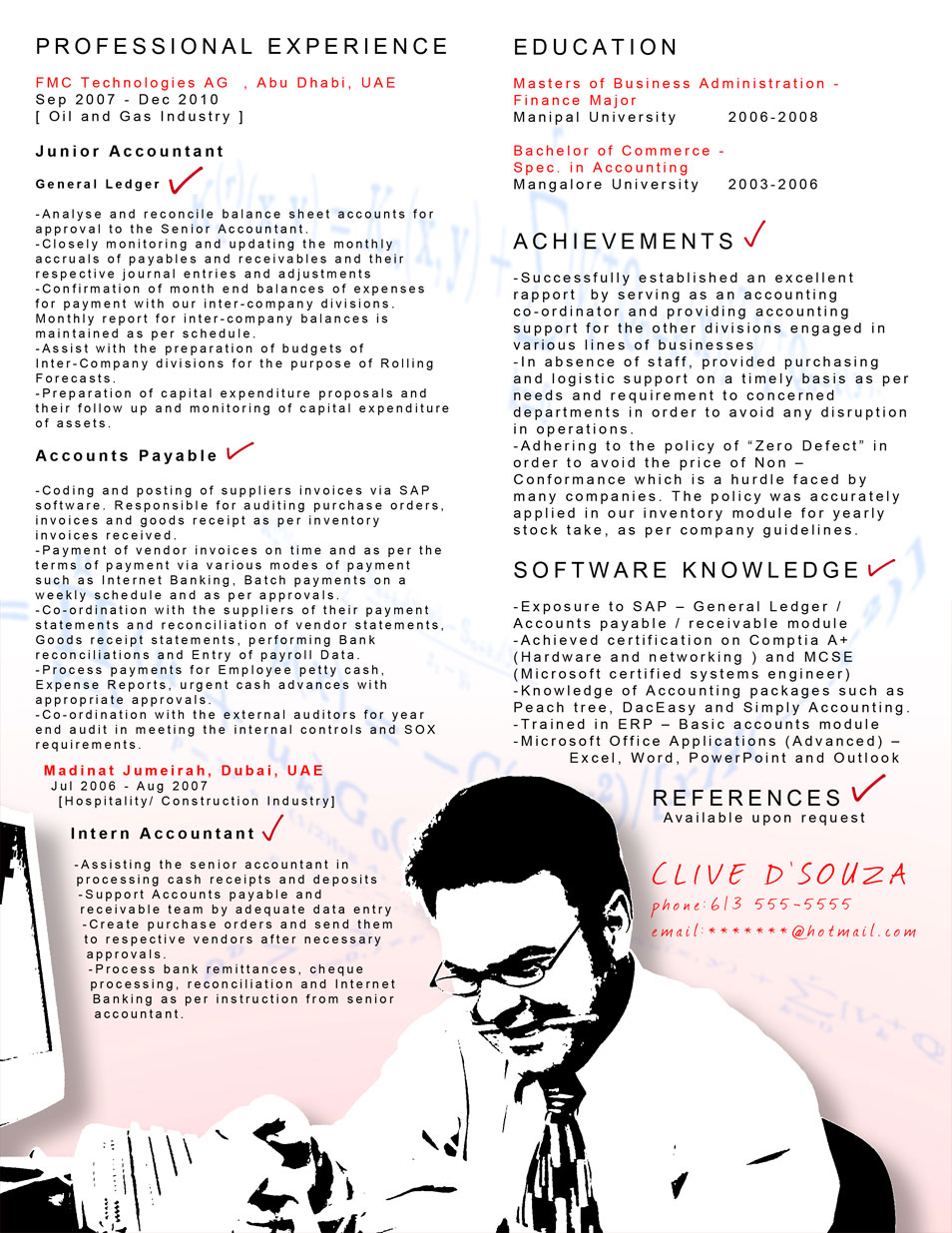 creative cv resume design inspiration resume accountant