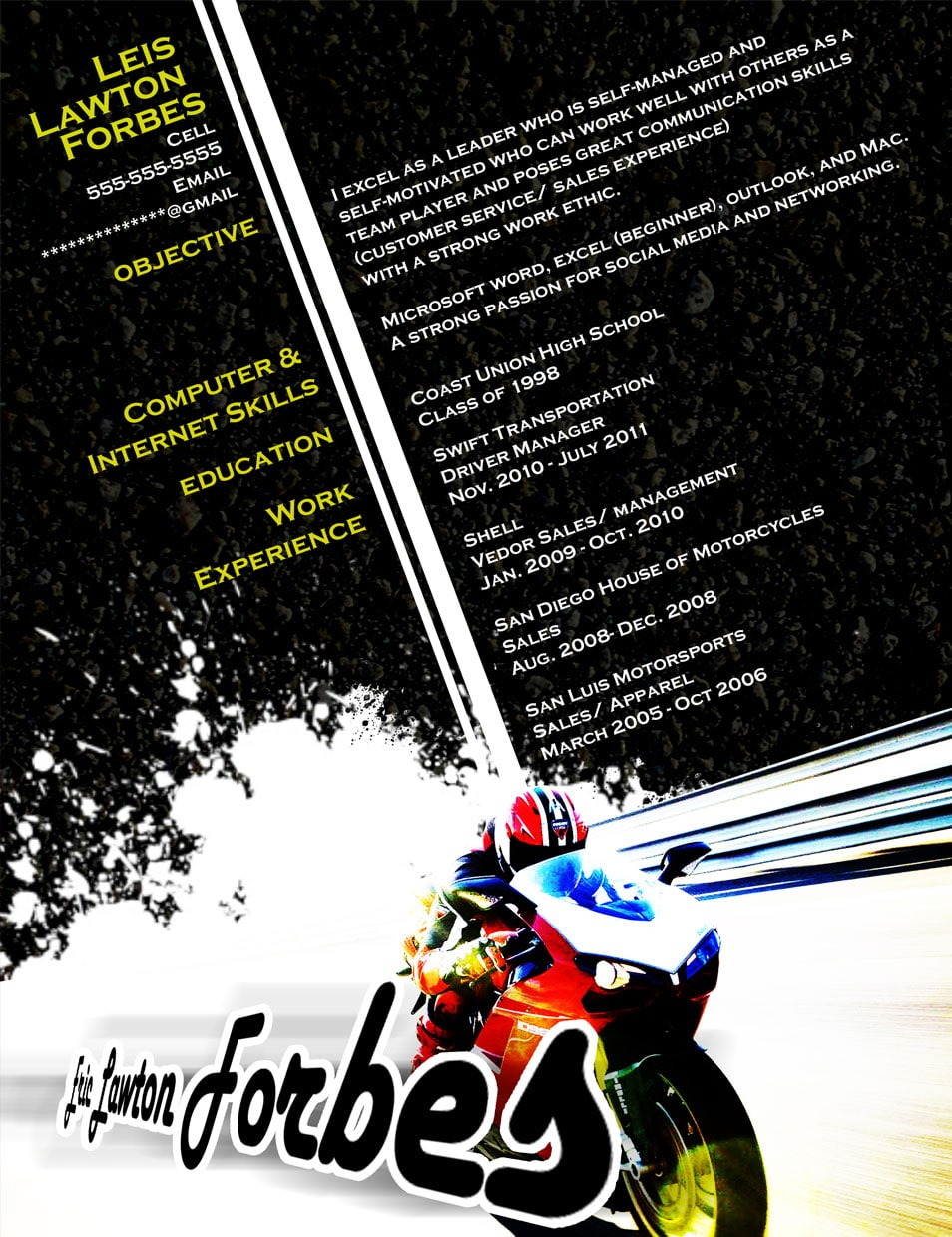 Resume - Motorcycle