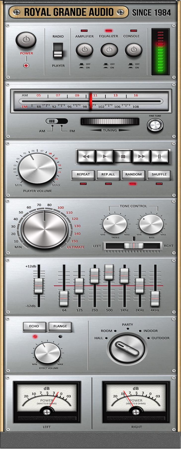 Royal Grande Very Old Audio Set UI