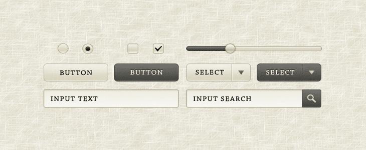 Sepia GUI Elements