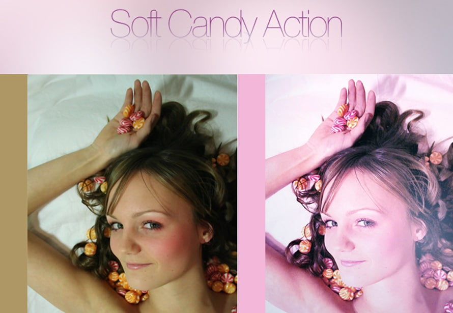 Soft Candy Photoshop Action