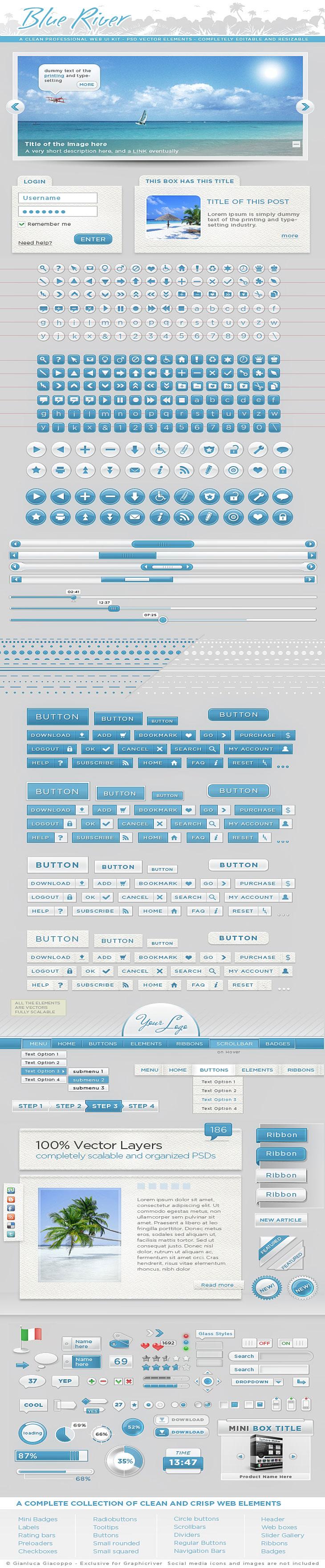Web Graphic Kit UI Elements