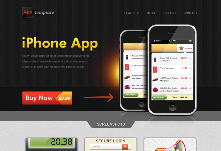 iPhone-App-Website-Template