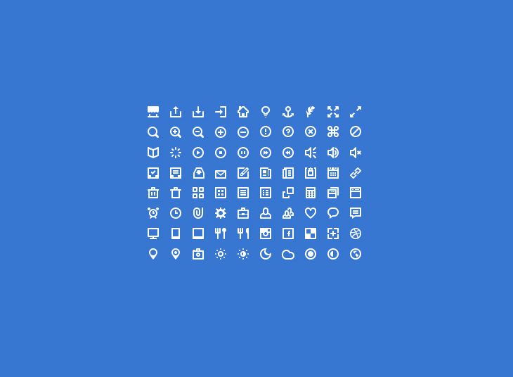80 Mini Icons (PSD + Icon Font)