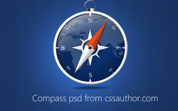 Beautiful Compass PSD for Free Download - cssauthor.com