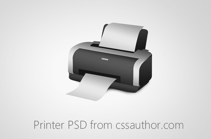 Beautiful Printer PSD for Free Download - cssauthor.com