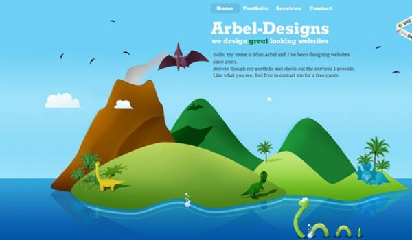 Beautiful Websites With Vector Landscapes