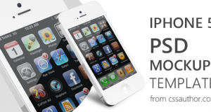 Beautiful iPhone 5 Mockup PSD Template for Free Download – Freebie No: 63