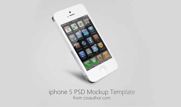 Beautiful iPhone 5 Mockup PSD Template for Free Download - cssauthor.com
