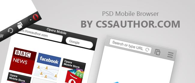 Download Free Mobile Browser TemplatePSD for Opera and Chrome - cssauthor.com
