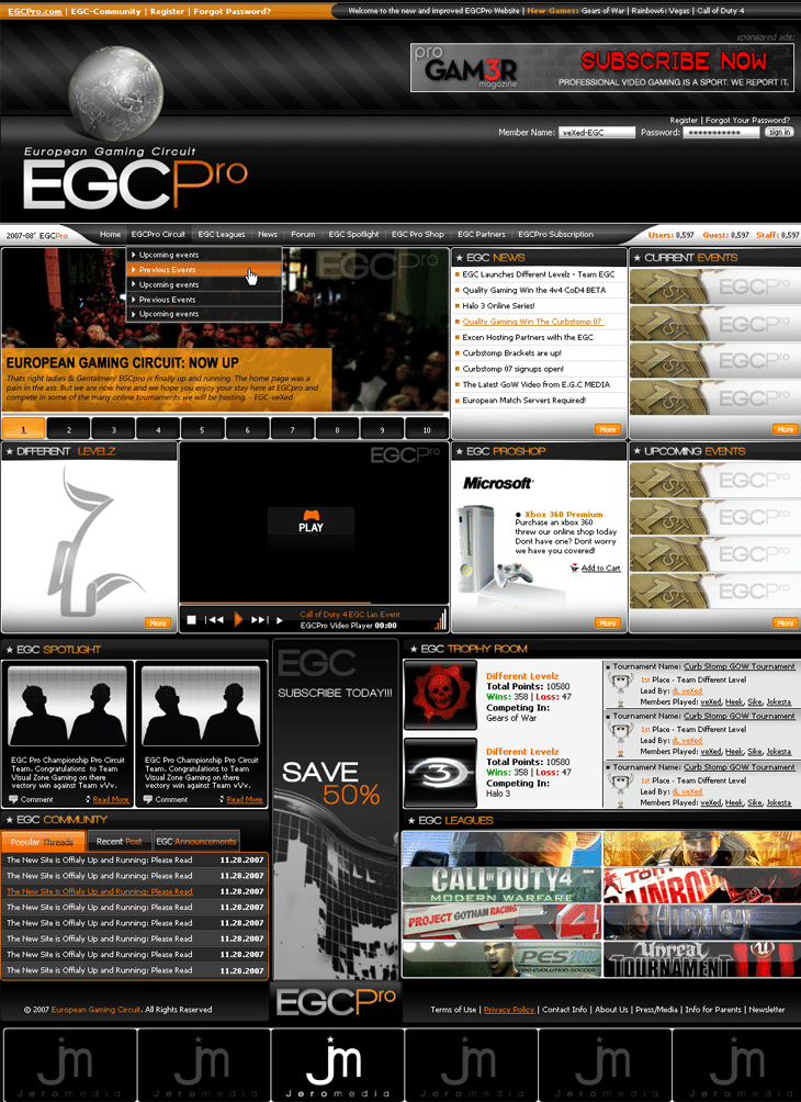 EGC pro WebSite