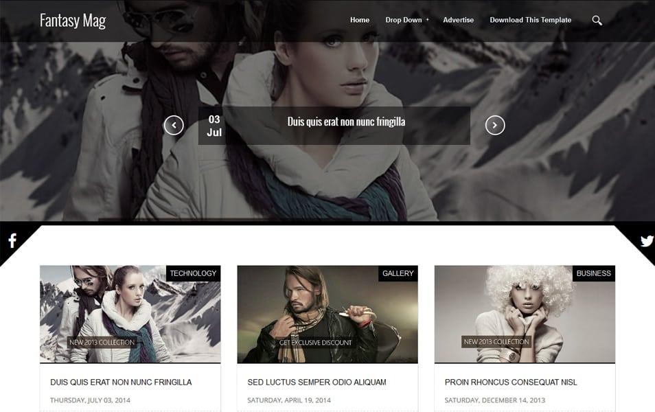 Fantasy Mag Responsive Blogger Template