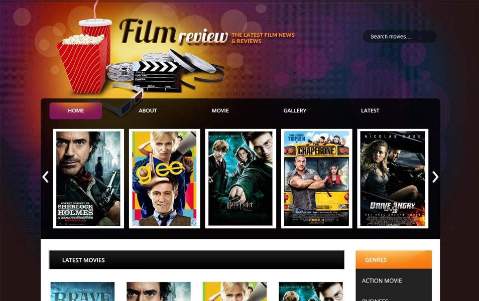 Film Reviews Responsive Blogger Template