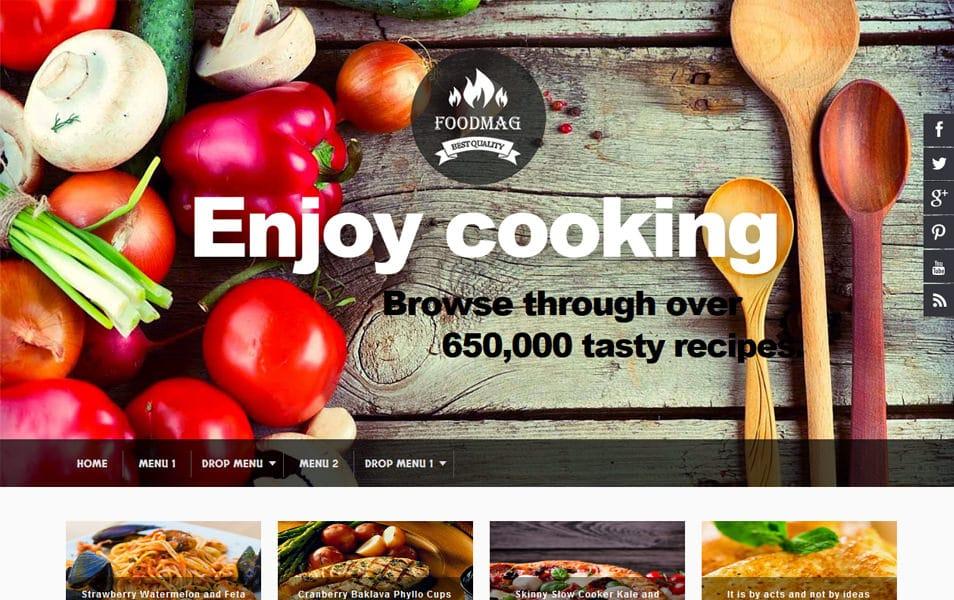 Foodmag Responsive Blogger Template