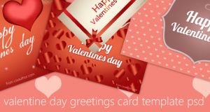 Download Free High Quality Happy Valentines Day Greeting Card PSD Template – Freebie No: 51