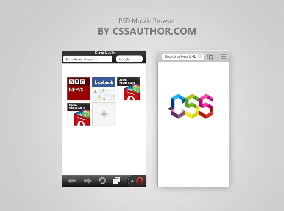 Free Mobile Browser Template PSD