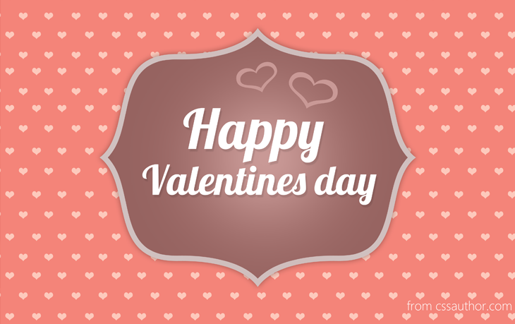 Free Printable Valentines Day Card PSD - cssauthor.com