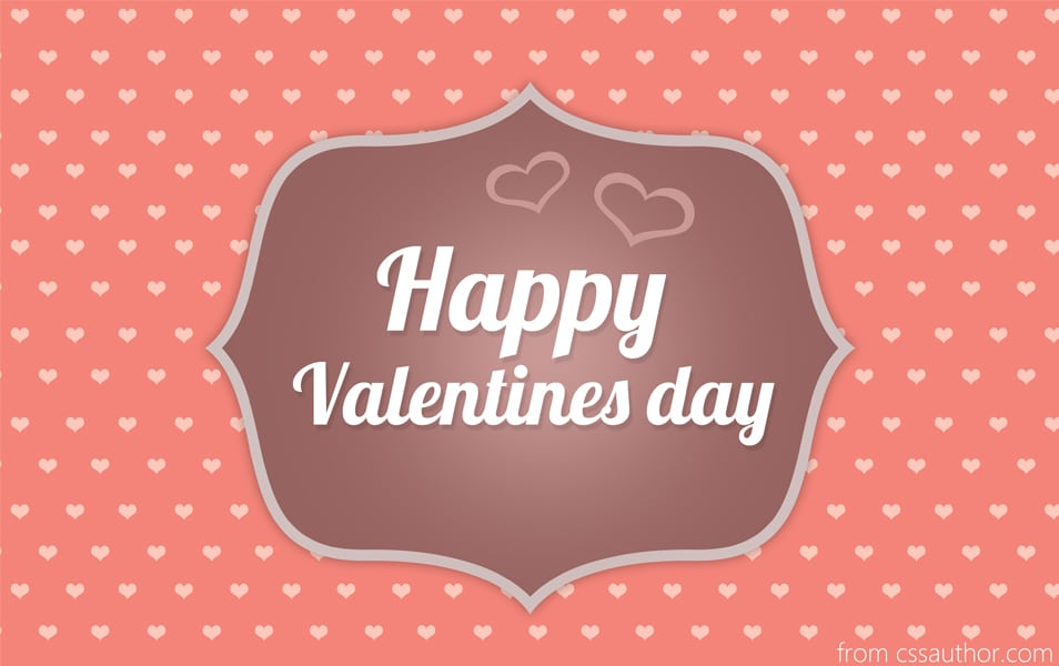 Free Download High Quality Happy Valentines Day Greeting Card PSD – Valentines Day Cards Greetings