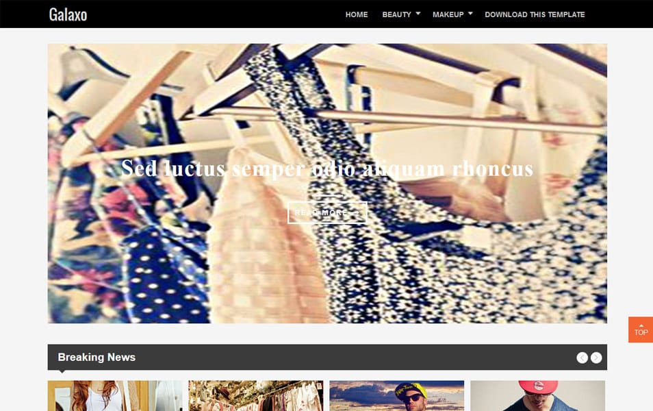 Galaxo Responsive Blogger Template