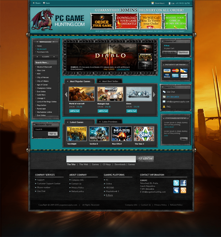 Game Website Joomla