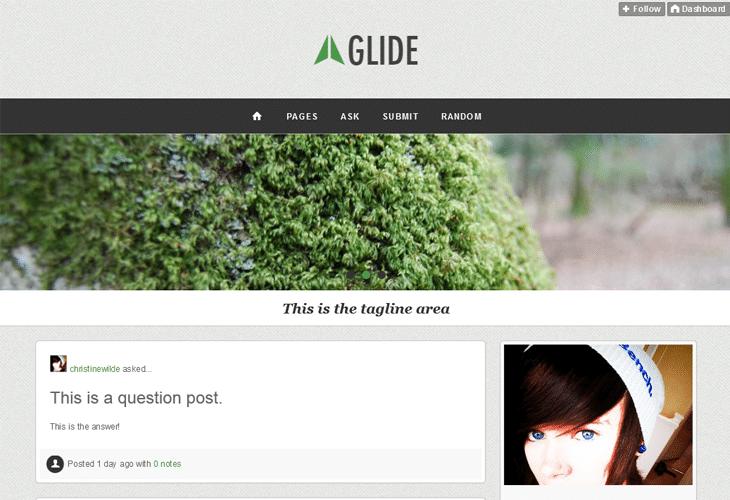 Glide Responsive Tumblr Theme