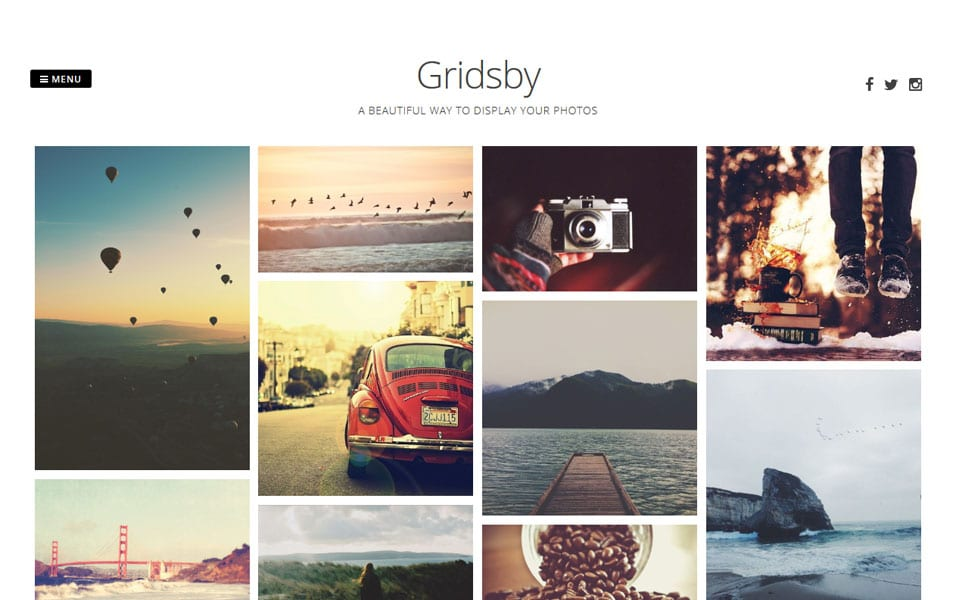 Gridsby Pinterest Style WordPress Theme