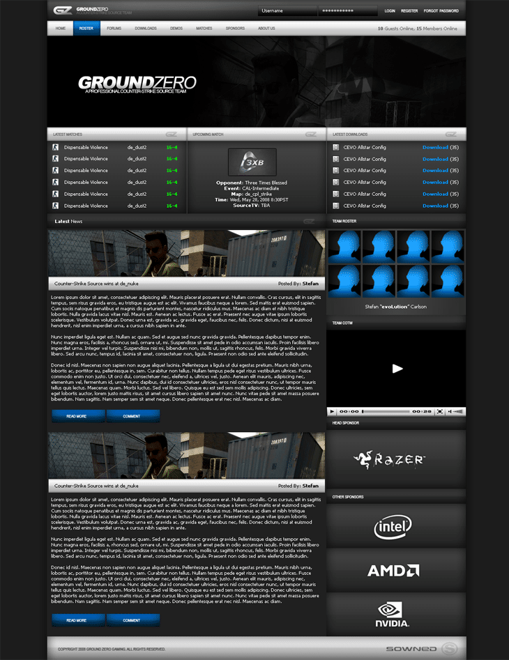 Ground Zero Gaming Website