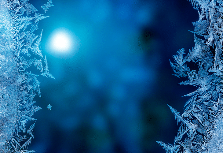 Ice on Glass - Windows 8 Wallpaper
