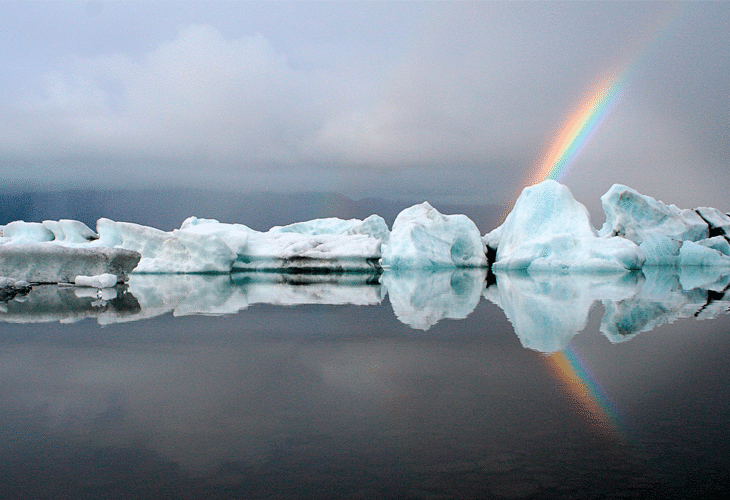 Icebergs and Rainbows - Windows 8 Wallpaper