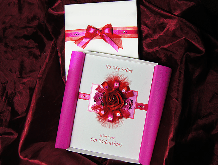 Juliette - Handmade Luxury Valentines Card