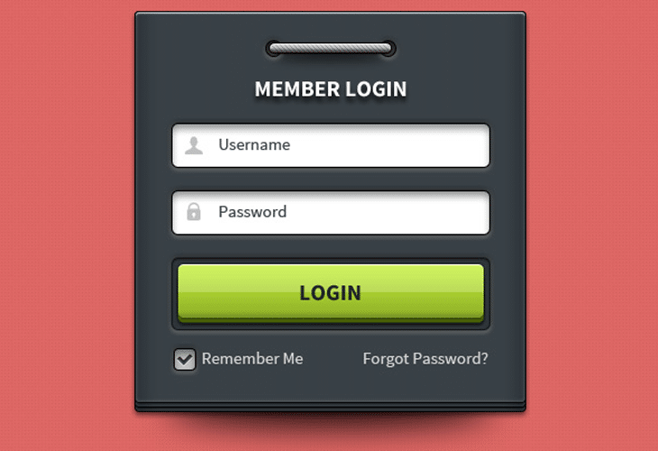 Login-Form-UI-element
