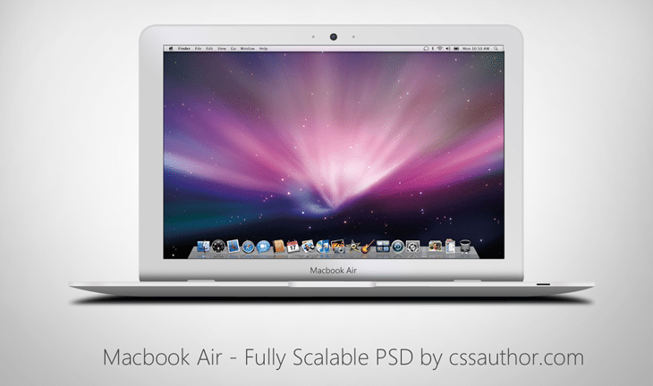 Macbook Air - Fully Scalable PSD for Free Download - cssauthor.com