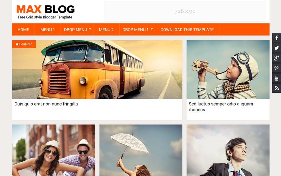Max Blog Responsive Blogger Template