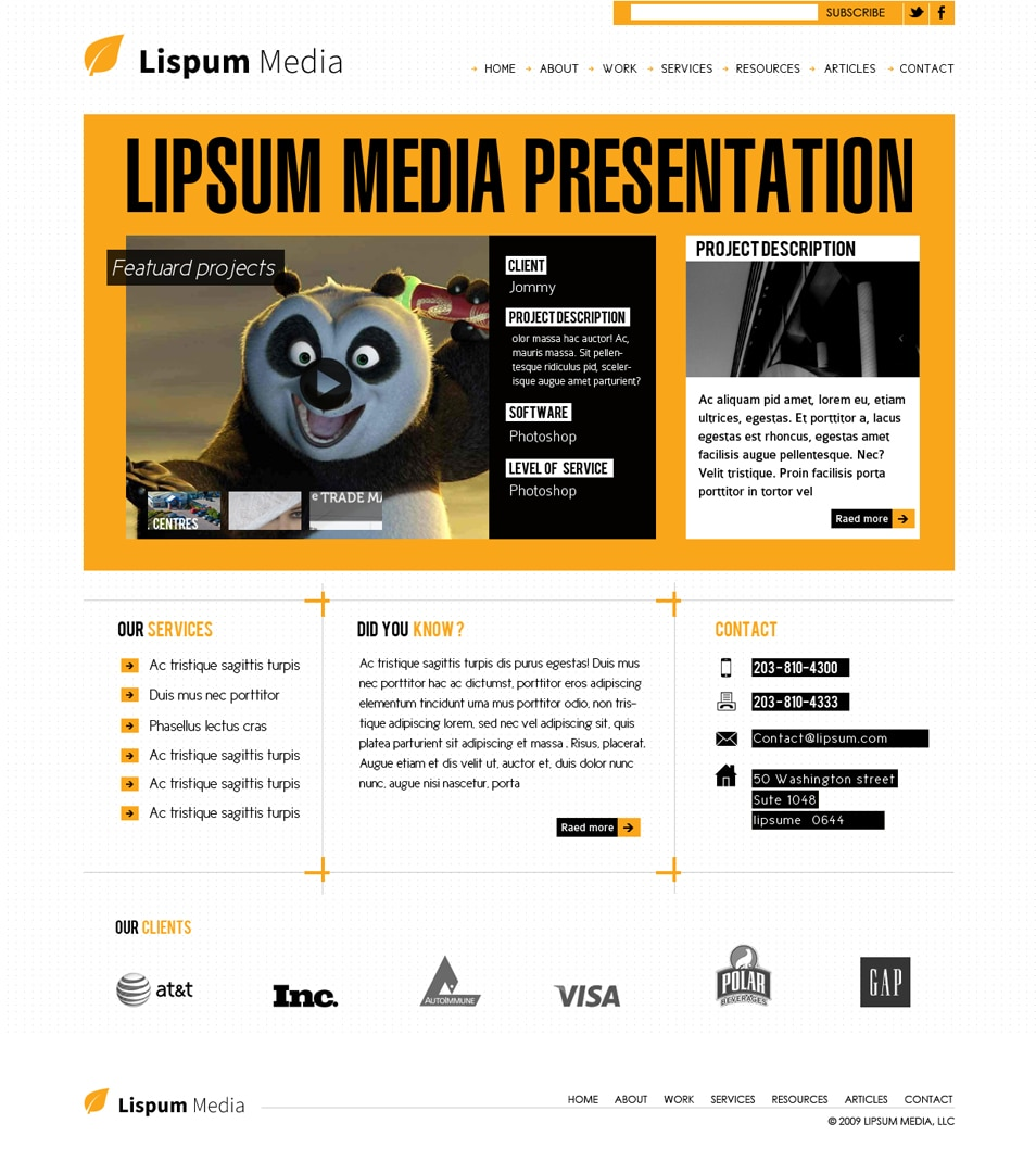 Modern Agency Website Design Template
