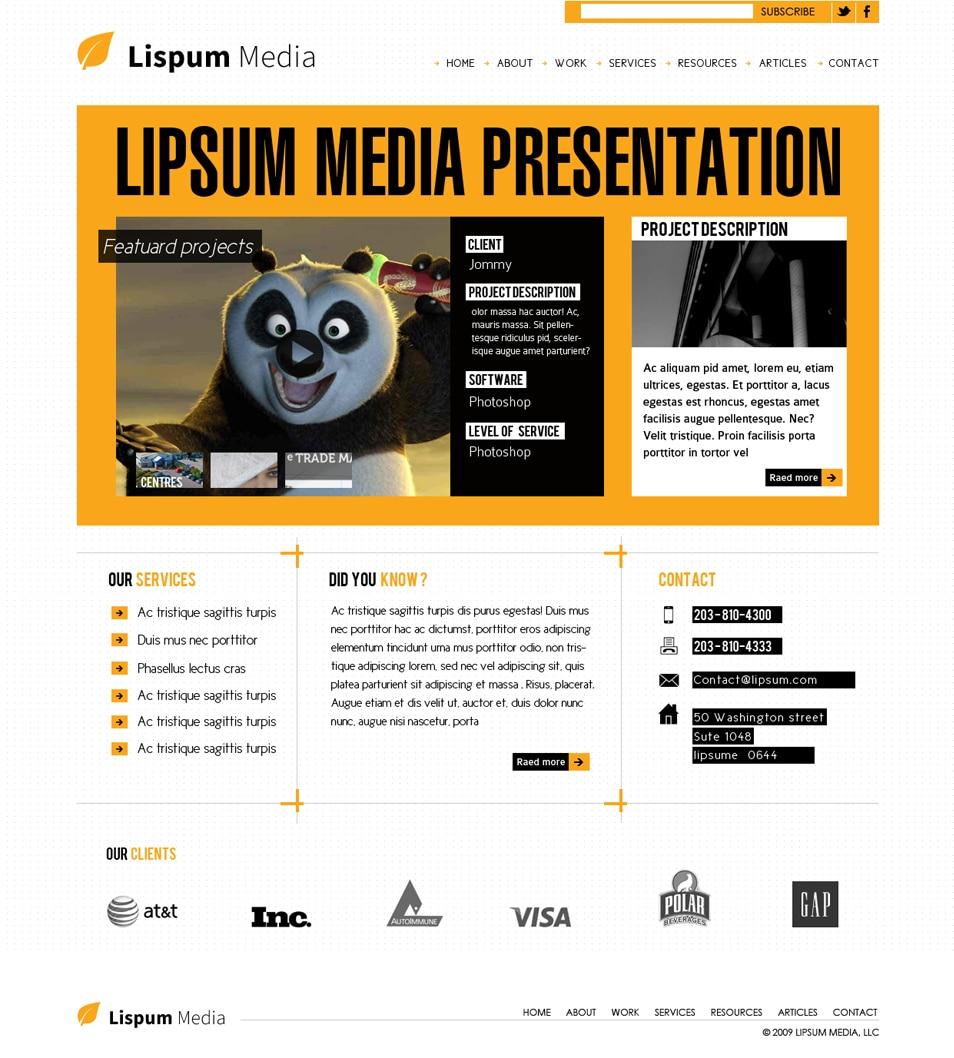 Modern Agency Website Design Template