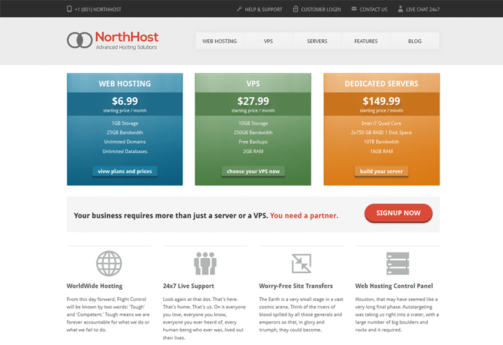 website hosting with templates